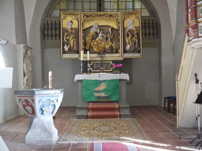 Wildenfels Härtensdorf Dorfkirche Zud en drei Marien Altar III
