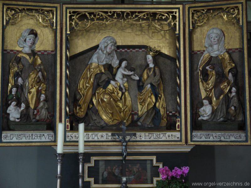 Wildenfels Härtensdorf Dorfkirche Zud en drei Marien Altar IV