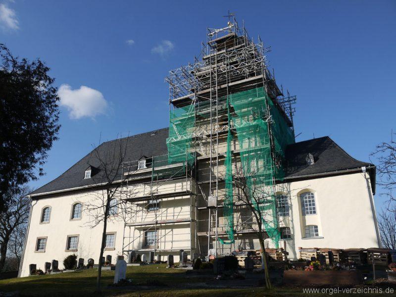 Wildenfels Härtensdorf Dorfkirche Zud en drei Marien Aussenansicht I
