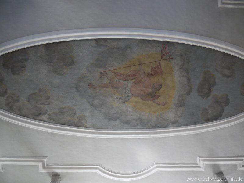 Wildenfels Härtensdorf Dorfkirche Zud en drei Marien Decke I