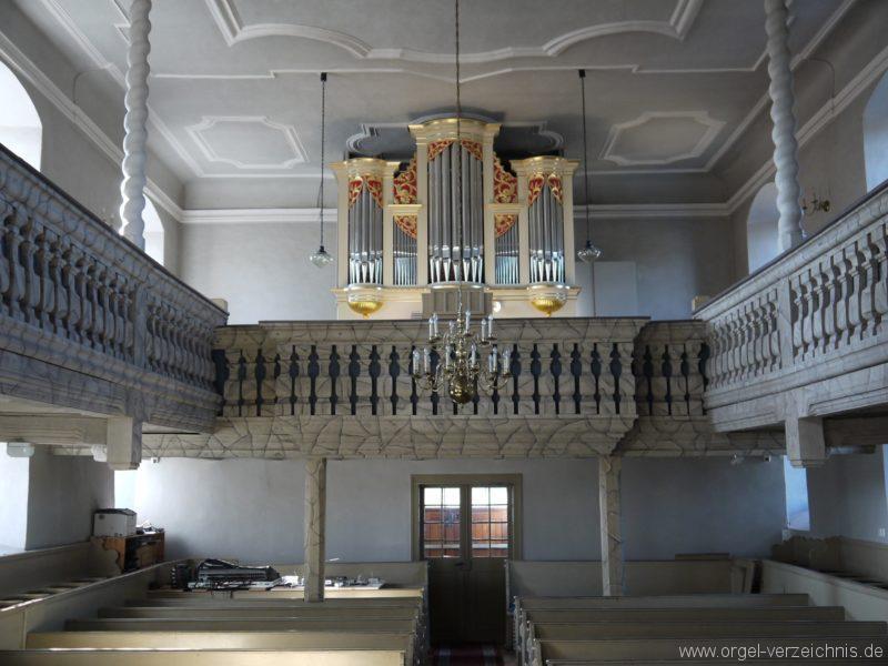 Wildenfels Härtensdorf Dorfkirche Zud en drei Marien Innenansicht I