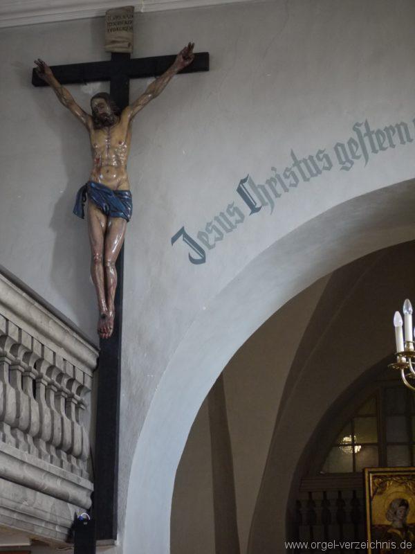 Wildenfels Härtensdorf Dorfkirche Zud en drei Marien Kruzifix I
