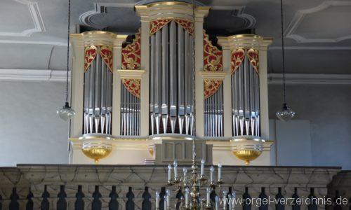 Wildenfels Härtensdorf Dorfkirche Zud en drei Marien Orgelprospekt I
