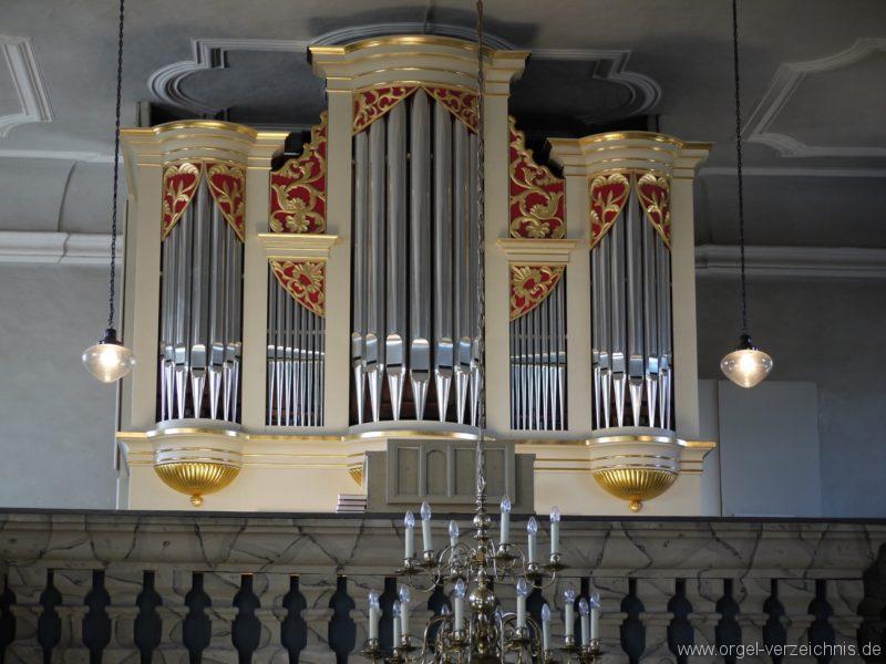 Wildenfels Härtensdorf Dorfkirche Zud en drei Marien Orgelprospekt III