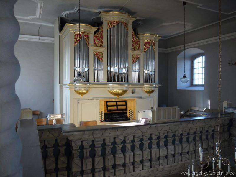Wildenfels Härtensdorf Dorfkirche Zud en drei Marien Orgelprospekt V