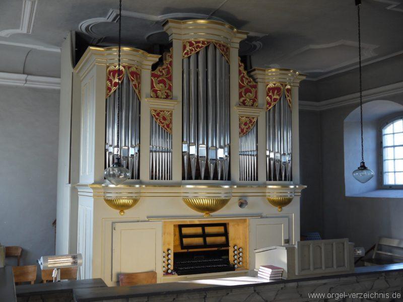 Wildenfels Härtensdorf Dorfkirche Zud en drei Marien Orgelprospekt VI