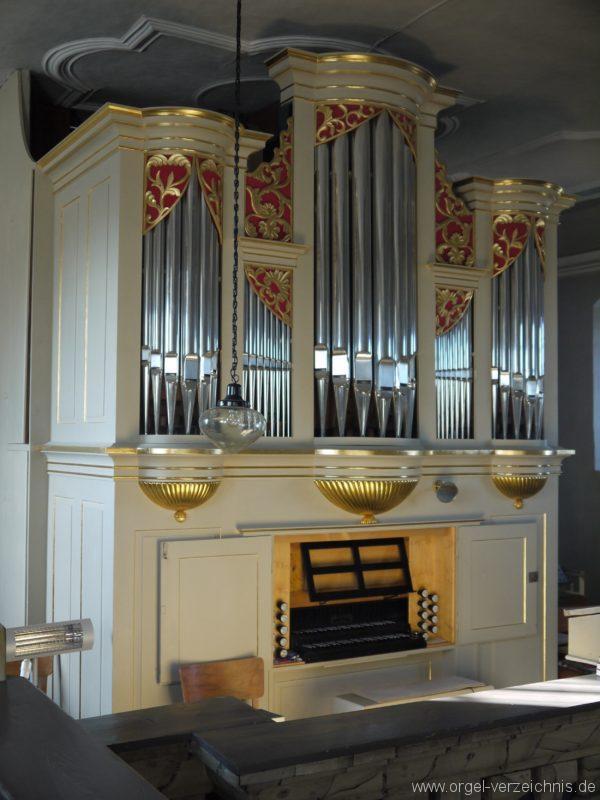 Wildenfels Härtensdorf Dorfkirche Zud en drei Marien Orgelprospekt VII
